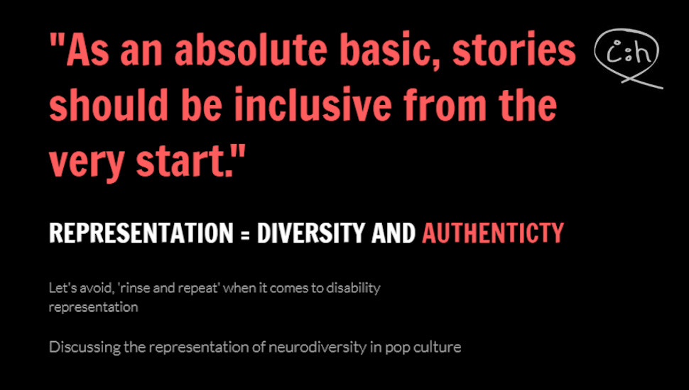 Avoiding 'rinse and repeat' when it comes to disability representation